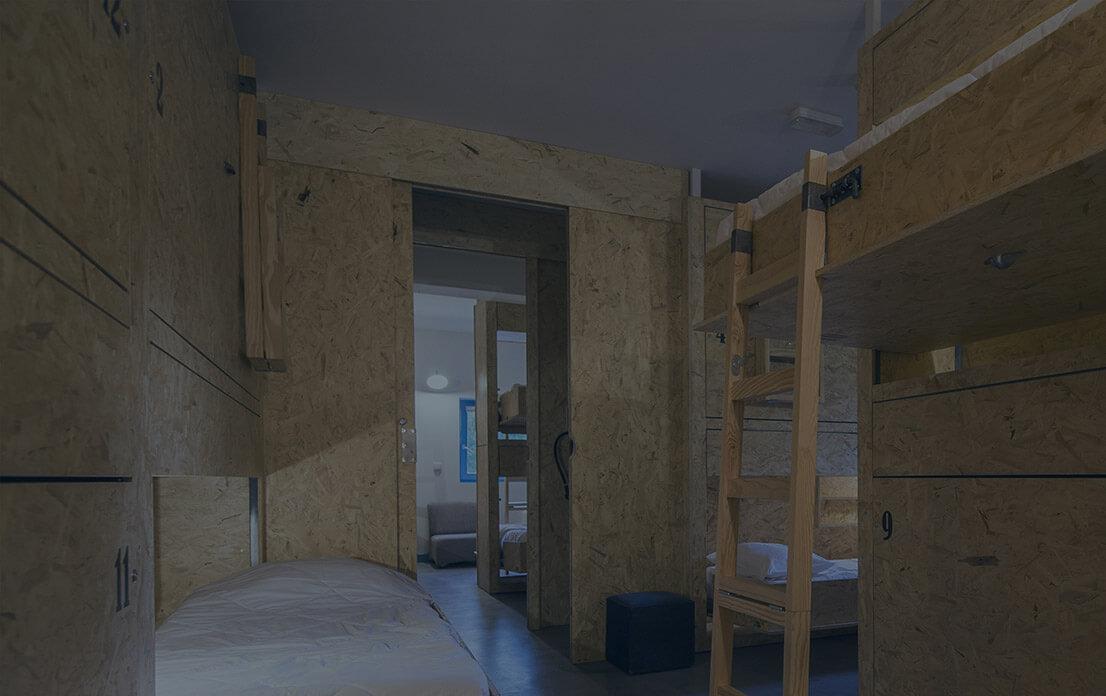 Dorms – 4, 6, 8, 10, 12 beds